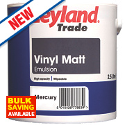 Leyland Trade Vinyl Matt Emulsion Paint Mercury 2.5Ltr