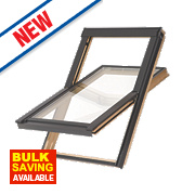 Tyrem Centre-Pivot Timber Roof Window Clear 780 x 1180mm