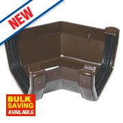FloPlast Square Line 135° Gutter Angle Brown 114mm