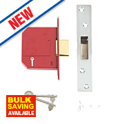 """Union BS 5-Lever Mortice Deadlock Stainless Steel 3"""" / 81mm"""