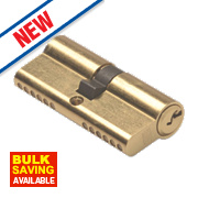 Union 6-Pin Euro Cylinder Lock 45-55 (100mm) Brass