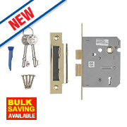 "Smith & Locke 3-Lever Mortice Sashlock Electric Brass 3"" / 76mm"