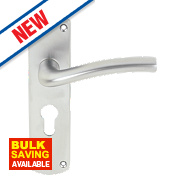 Serozzetta Serozzetta Cuatro Level on Rose Door Handle Pack Satin Chrome