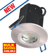 Robus Fire Rated Fixed LED Downlight IP65 Brushed Chrome 8W