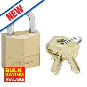 Master Lock Solid Brass Padlock 20mm