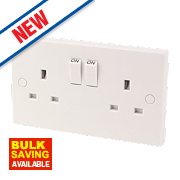 2-Gang 13A DP Switched Socket White