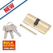 Smith & Locke 5-Pin Euro Double Cylinder Lock 40-40 (80mm) Brass