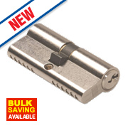 Union 6-Pin Euro Cylinder Lock 35-50 (85mm) Satin Nickel