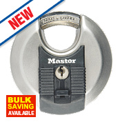 Master Lock Keyed Alike Excell Disc Padlock Stainless Steel 70mm