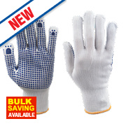 Keepsafe Polka Dot Picking Gloves White/Blue Large