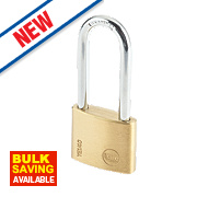 Yale Long Shackle Padlock Brass 40mm