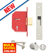 """Union 5-Lever Mortice Deadlock Stainless Steel 2½"""" / 68mm"""