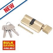 Smith & Locke 5-Pin Thumbturn Euro Cylinder Lock 35-35 (70mm) Brass