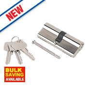 Smith & Locke 5-Pin Euro Double Cylinder Lock 40-40 (80mm) Nickel