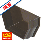 FloPlast Square Internal Stop End Brown 121mm