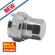 Pegler Prestex PX37CP Chrome-Plated Compression Stop End 15mm