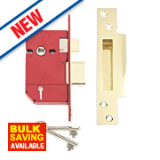 "Union BS 5-Lever Mortice Sashlock Brass 2½"" / 68mm"
