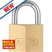 Abus Keyed Alike Padlocks Brass 39mm Pack of 2
