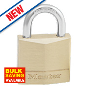 Master Lock Solid Brass Padlock 30mm