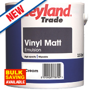 Leyland Trade Vinyl Matt Paint Cream 2.5Ltr
