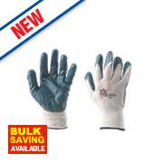 Keep Safe Nitrile-Coated Gloves Blue Medium