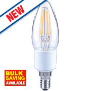 LAP Candle LED Filament Lamp Warm White SES 4.5W