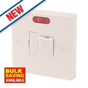 13A Switched Fused Connection Unit Spur White + Neon