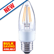 LAP Candle LED Filament Lamp Warm White ES 4.5W