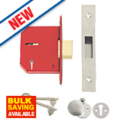"""Union 5-Lever Mortice Deadlock Stainless Steel 3"""" / 81mm"""