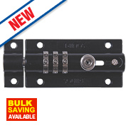 Squire Die-Cast Steel Combination Locking Bolt Black 92mm