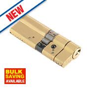 Yale AS Platinum Euro Cylinder 35-45 (80mm) Polished Brass