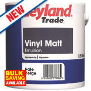 Leyland Trade Vinyl Matt Paint Pale Beige 2.5Ltr
