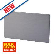 LAP 2-Gang Blank Plate Slate Effect