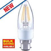 LAP Candle LED Filament Lamp Warm White BC 4.5W