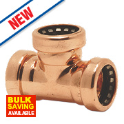 Yorkshire Tectite Sprint Push-Fit Pipe Equal Tee 10mm