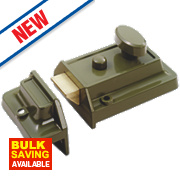 Smith & Locke Traditional Rim Cylinder Night Latch Green 60mm Backset