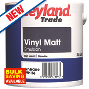 Leyland Trade Vinyl Matt Emulsion Paint Antique White 2.5Ltr