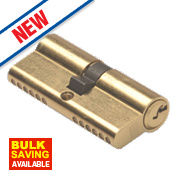 Union 6-Pin Euro Cylinder Lock 40-45 (85mm) Brass