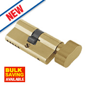 Century 5-Pin Euro Double Cylinder Lock with Thumbturn 35-35 (70mm) Brass