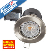Robus Fire Rated Fixed LED Downlight IP20 Brushed Chrome 0.0035W