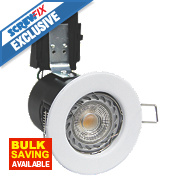 Robus 30, 60 & 90min Fire Rated Fixed LED Downlight IP20 White W