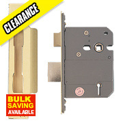"Eclipse 5-Lever BS Sashlock Polished Brass 3"" / 76mm"