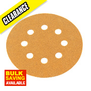 Norton Sanding Grip Disc 125mm 80 Grit Pack of 10