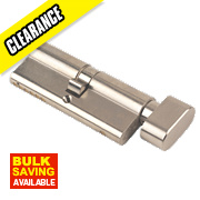 Yale 6-Pin Euro Cylinder Thumbturn Lock 35-35 (70mm) Sat. Nkl