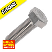 Set Screws A2 Stainless Steel M20 x 60mm Pack of 5