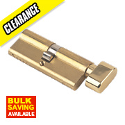 Yale 6-Pin Euro Cylinder Thumbturn Lock 35-35 (70mm) Pol. Brs
