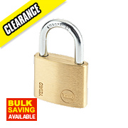Yale Keyed Alike Padlock Brass 40mm