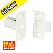 Cupboard Catches White 16mm Pack of 2