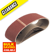 Cloth Sanding Belts 75 x 610mm 80 Grit Pack of 5
