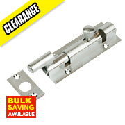 Necked Barrel Door Bolt Satin Chrome-Plated 102mm